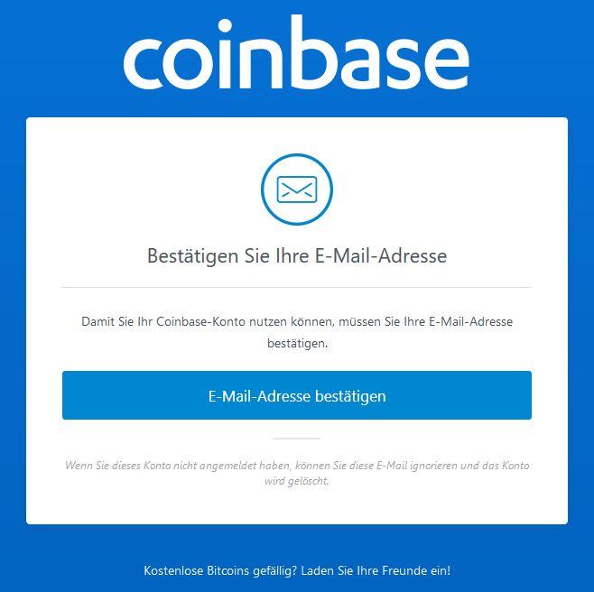 Bitcoin kaufen: E-Mail-Adresse bestätigen